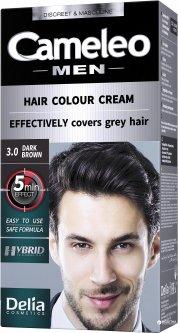 Краска для мужчин Delia cosmetics Cameleo Men 3.0 Темно-коричневый 30 мл (5901350445839)
