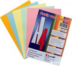 Набор бумаги офисной цветной ТехноЮг Mini ассорти средние А4 80 г/м2 100 листов 5 цветов по 20 листов (А4/80-TU-5цв.trend)
