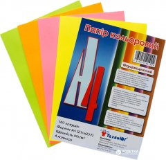 Набор цветной бумаги ТехноЮг Мini ассорти Neon А4 100 листов 12 шт (0269910401004)