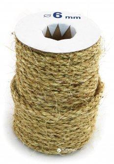 Веревка сизалевая Радосвіт 6 мм х 25 м Бело-желто-серый (4820172930174)