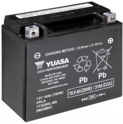 Мото аккумулятор Yuasa 12V 18.9Ah High Performance MF VRLA Battery AGM YTX20HL-BS (сухозаряжений) (YTX20HL-BS)
