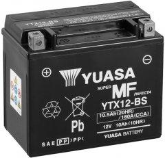 Мото аккумулятор Yuasa 12V 10.5Ah MF VRLA Battery YTX12-BS (сухозаряжений) (YTX12-BS)