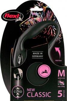 Поводок-рулетка Flexi New Classic M 5 м Черный (4000498022627)