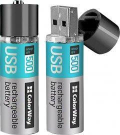Аккумулятор ColorWay AA USB 1200 мАч 1.5 В 2 шт (CW-UBAA-02)