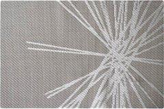 Сервировочный коврик МД 30 х 45 см серый узор (PM10177)