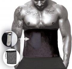 Пояс для похудения PowerPlay 4301 Черный 125x30 см (PP_4301_Black_125_Pocket)