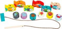 Деревянная игрушка Cubika Рыбки на шнуровке (13647) (4823056513647)