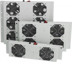 Вентиляционная панель Mirsan 2 вентилятора, термостат в комплекте RAL 7035 (MR.FAN2WT.02)