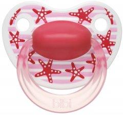 Пустышка Bibi Happiness Dental Играй с нами 0-6 мес Розовая (112918) (7610472846065)