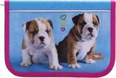 Пенал Class Lovely Puppies 1 отделение Пустой Голубой (98003/8591662980035)