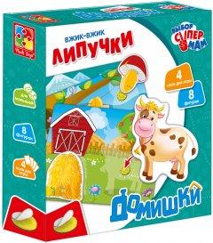 Игра настольная Vladi Toys Домишки с липучками на русском языке (VT1302-20) (4820195052426)