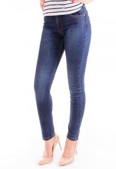 Джинсы Mimosa Jeans A17043+РЕМЕНЬ 26 Синий