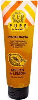 Зубная паста PresiDENT Pure Дыня и лимон 100 г (4605370018295)