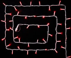 Светодиодная гирлянда DELUX STRING flash 100LED 10 м красныйн/белый IP44 EN (90012972)