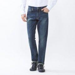 Джинси скінні чоловічі Uniqlo Stretch Slim Fit Straight BLUE (28W34L)