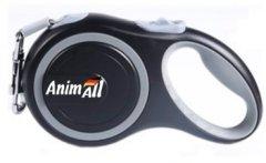 Поводок-рулетка AnimAll М до 25 кг, 5 м Серо-черный (2000981099220)