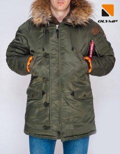 Зимова куртка Olymp N-3B Аляска Old School АЛ-9-1 M Хакі