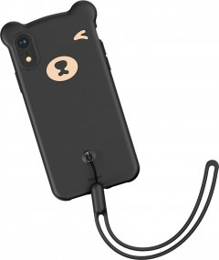 Панель Baseus Bear Silicone для Apple iPhone Xr Black (WIAPIPH61-BE01)