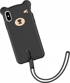 Панель Baseus Bear Silicone для Apple iPhone Xs Black (WIAPIPH58-BE01)