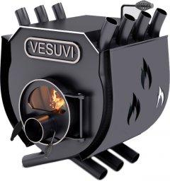 Печь калориферная для дома и дачи Vesuvi ОО с варочной поверхностью, со стеклом + перфорация (VW-002005SP)