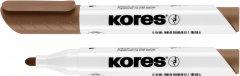 Набор маркеров для белых досок Kores 1-3 мм Коричневый 12 шт (K20838) (9023800208385)