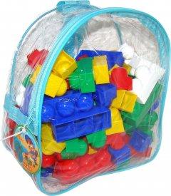 Конструктор Polesie (Полесье) Юниор 100 элементов в голубом рюкзаке (4810344033321-3) (3321-3)