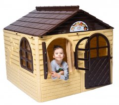 Детский игровой домик Active Baby Бежево-коричневый 129 х 129 х 120 см (01-02550/0202) (4822003280205)