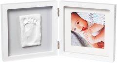 Набор для создания отпечатка ручки и ножки малыша Baby Art Двойная рамка квадратная Бело/серая (3601095200) (3220660304493)