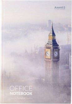 Книга канцелярская записная Axent London А4 в твердой обложке 192 листа клетка (8423-21-A)