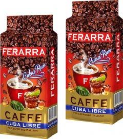 Упаковка молотого кофе Ferarra Cuba Libre с ароматом кубинского рома 250 г х 2 шт (2000006782236)
