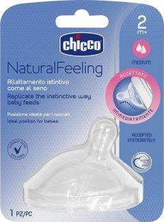 Силиконовая соска Chicco Natural Feeling Средний поток, 2м+ 1 шт (81023.10) (8058664008209)