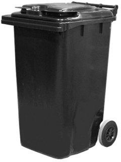 Мусорный контейнер Jcoplastic 580 х 1050 х 705 мм 240 л Темно-серый (J0240 DGDG)