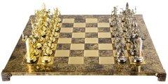 Шахматы ручной работы Manopoulos Греческая мифология, деревянная доска латунь, металлические фигуры, 54 x 54 см, 10 кг (S19BRO)