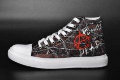 Кеди Rock Shoes Anarchy - Punks not Dead (40-46) Чорний (00000004390) 46 (30,2 см)