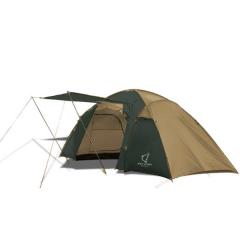 Палатка двухкомнатная Wolf Leader X-Large P222 4-места Желтый