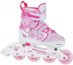 Роликовые коньки раздвижные Tempish Swist Flash размер 26-29 Pink (1000000032/PINK/26-29) (8592678102275)