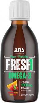 Жирные кислоты ANS Performance Fresh Веганская Омега-3 200 мл со вкусом Клубника-апельсин (659153876231)