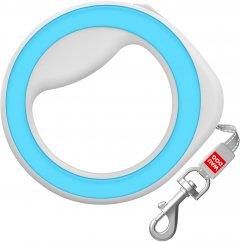 Поводок-рулетка для собак Collar WAUDOG R-leash, круглая, XS-M, до 40 кг, 2,9 м, светоотражающая лента (81272)