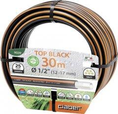 """Шланг поливочный Claber 1/2"""" 30 м Top-Black Черно-оранжевый (90390000)"""