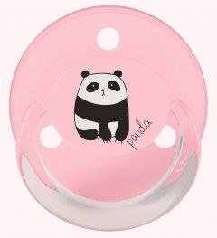 Пустышка круглая Baby-Nova ортодонтическая латексная с кольцом и рисунком 2 шт Розовая (3966370) (4001071200258)
