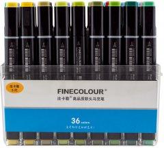 Набор маркеров Finecolour Brush 36 цветов (EF102-TB36)