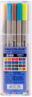 Набор маркеров Finecolour Liner 24 цвета (EF300-TB24B)
