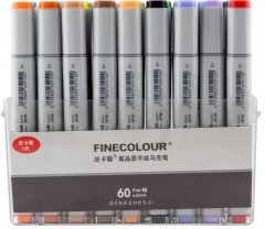Набор маркеров Finecolour Sketchmarker 60 цветов (EF100-TB60)