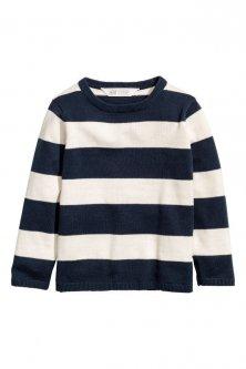 Джемпер H&M 92 см Біло-синій (НМ130453)