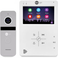 Комплект видеодомофона NeoLight TAU+ Kit Silver