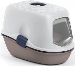 Туалет для кошек с фильтром Stefanplast Furba Top Chic 58.5 x 39.4 x 42.7 см Белый/бежевый (8003507979437)