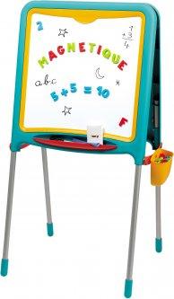 Двухсторонний мольберт Smoby Toys Буквы и цифры на металлических ножках с аксессуарами (3032164103072)
