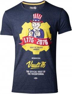 Футболка Difuzed Fallout 76 - Vault 76 Poster Men's T-shirt - M Синяя (TS444557FAL-M)