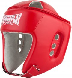 Боксерский шлем PowerPlay 3084 Красный L тренировочный (PP_3084_L_Red)