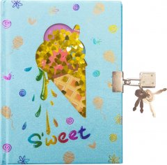 Блокнот детский Malevaro с окошком и жидкими блестками Мороженое (W362320-S) (6931164701158)